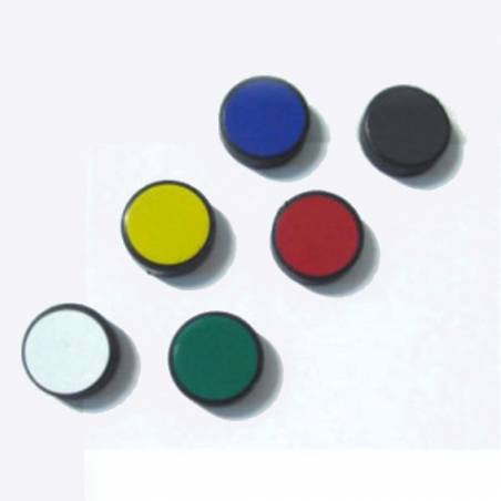 Imanes  de sinalização 2,5 cm para quadros magnéticos