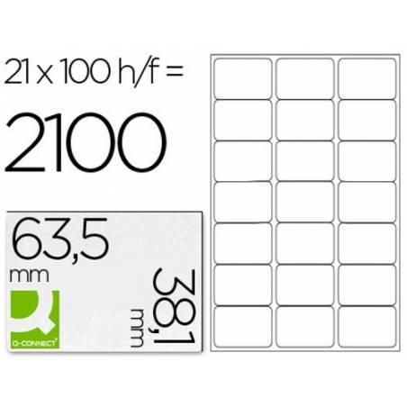 Etiquetas adesivas 63,5x38,1mm