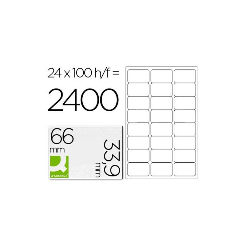 Etiquetas adesivas 66x33,9mm
