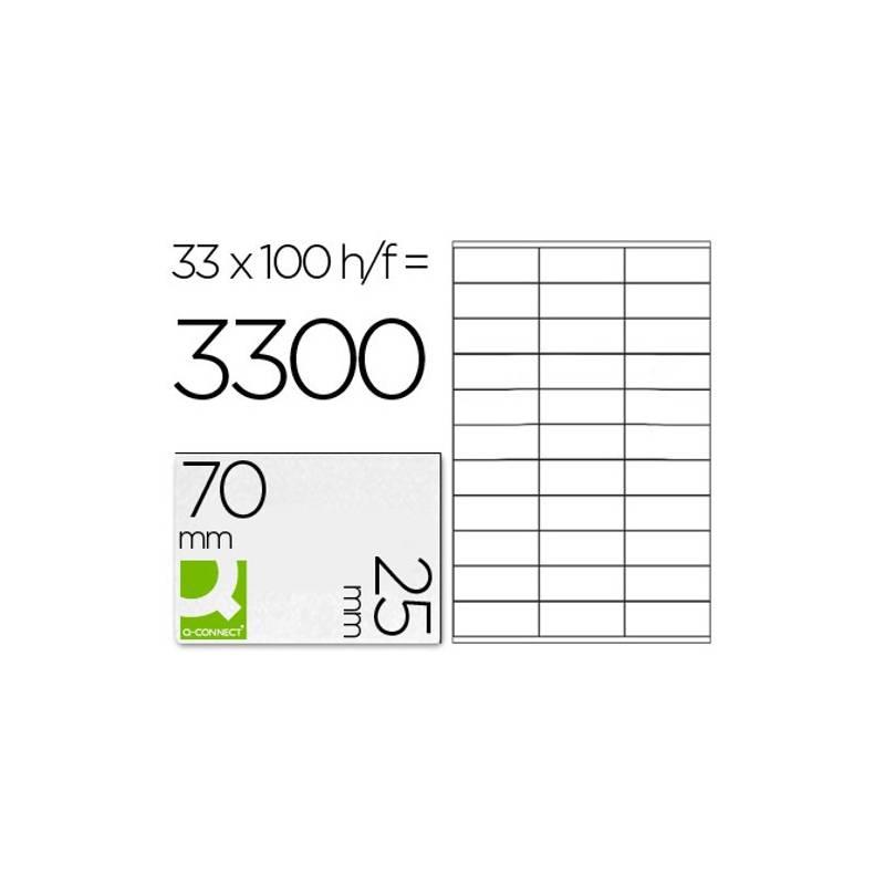 Etiquetas adesivas 70x25mm