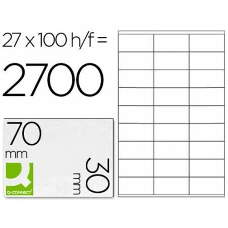 Etiquetas adesivas 70x30mm