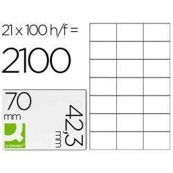 Etiquetas adesivas 70x42,3mm