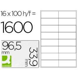 Etiquetas adesivas 96,5x33,9mm