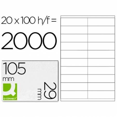 Etiquetas adesivas 105x29mm