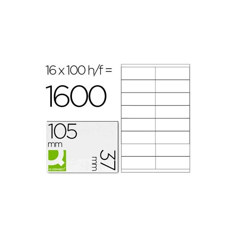 Etiquetas adesivas 105x37mm