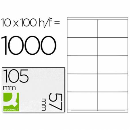 Etiquetas autocolantes 105x57mm