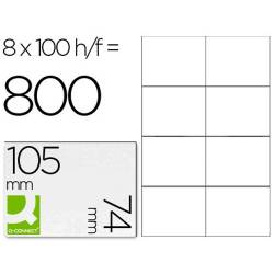Etiquetas adesivas 105x74mm