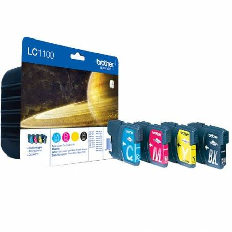 Tinteiro Brother LC1100VALBP Pack 4 Cores