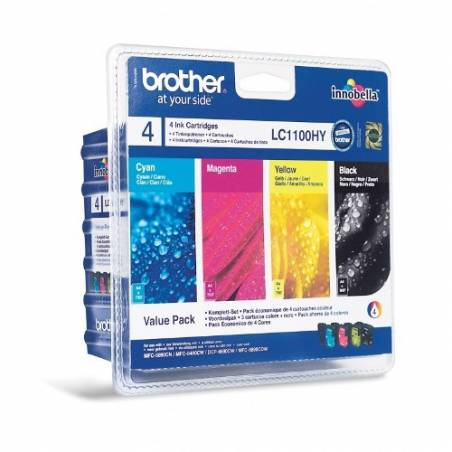 Tinteiros Brother LC1100HYVALBP (pack com 4 cores)