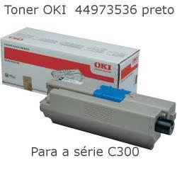 Toner OKI 44973536 preto para  C301 e C321