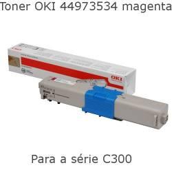 Toner OKI 44973534 magenta para  C301 e C321