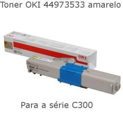 Toner OKI 44973533 amarelo para  C301 e C321