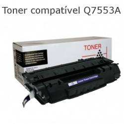 Toner compativel com HP Q7553A preto
