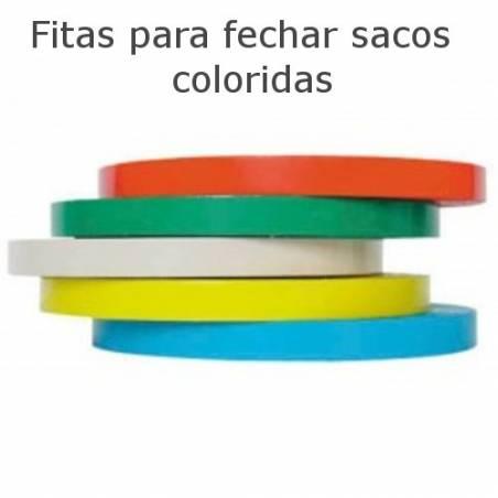 Fitas adesivas para fechar sacos coloridas