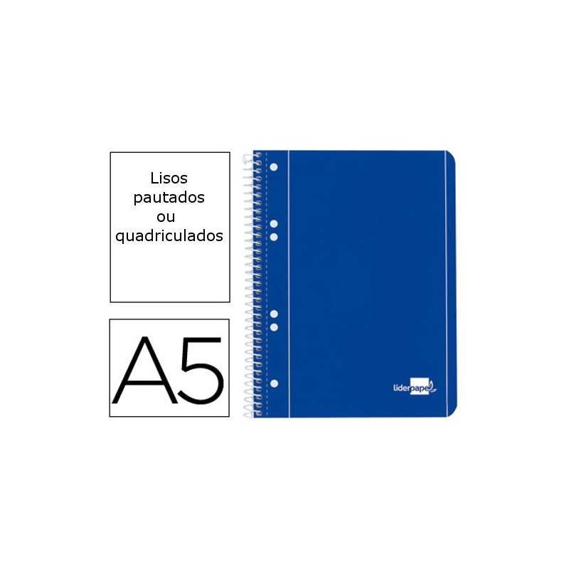Cadernos A5 espiral de capa azul