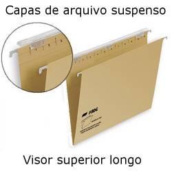 Capas de arquivo suspenso com visor longo