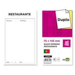 Blocos de restaurante com duplicado