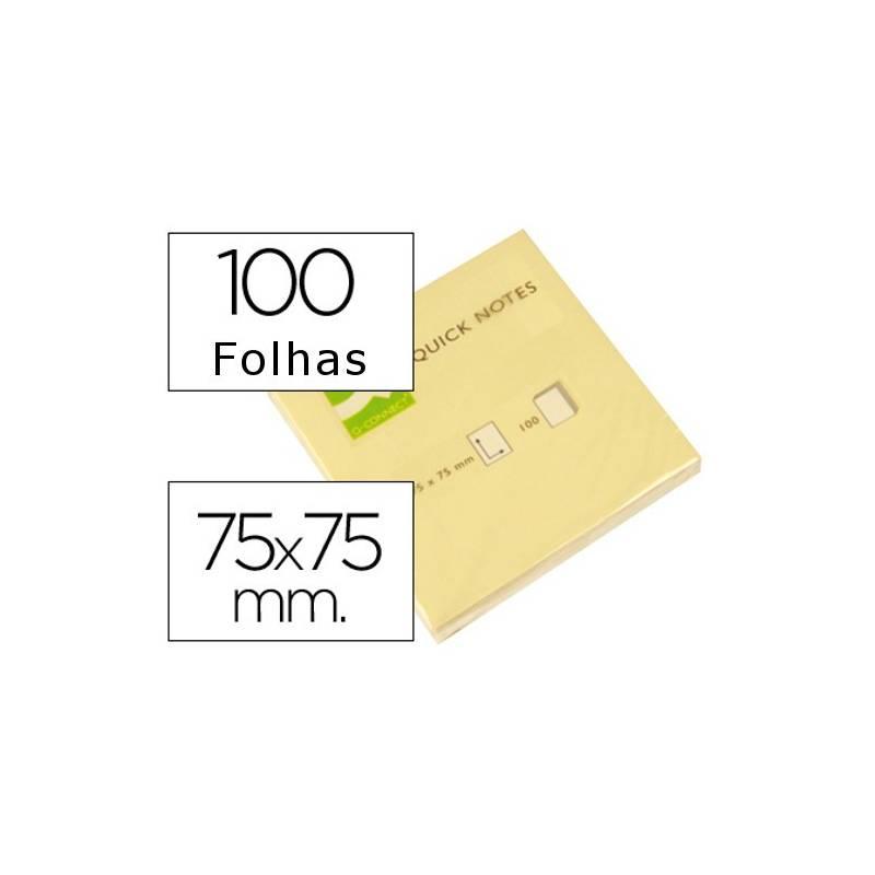 Blocos de notas adesivas amarelas 75x75mm