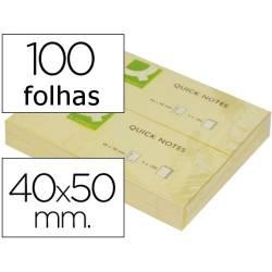 Blocos de notas adesivas amarelas 40x50mm