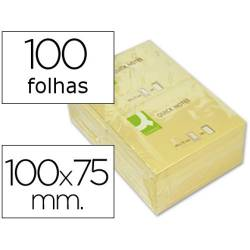 Blocos de notas adesivas amarelas 75x100mm