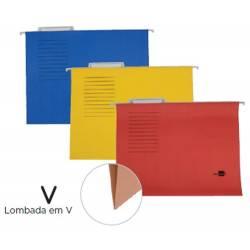 Capas de arquivo suspenso A4 kraft colorido