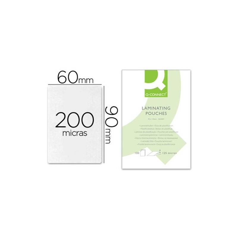 Bolsas de plastificar 90X60 mm 200 microns