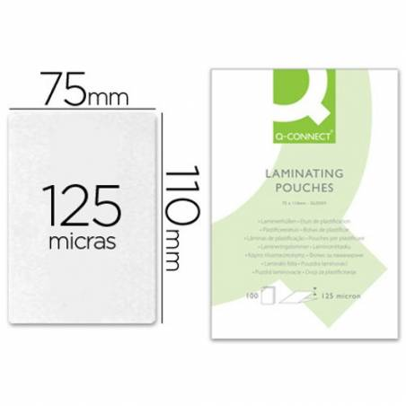 Bolsas de plastificar 110X75 mm 125 microns