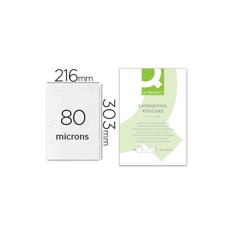 Bolsas de plastificar A4 (216X303 mm) 80 microns