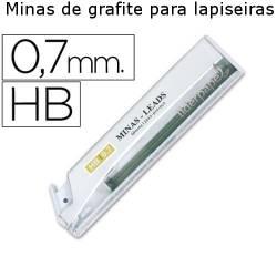 Minas de grafite para lapiseiras 0,7 mm