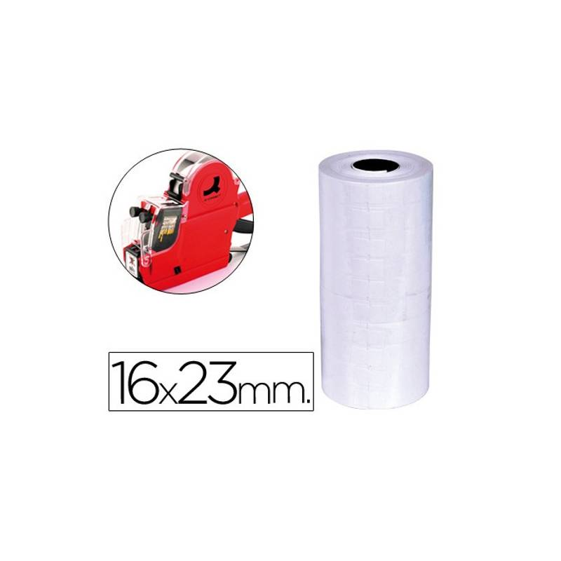 Etiquetas 23x16mm brancas em rolo
