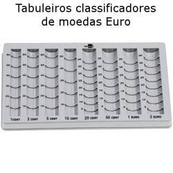 Tabuleiros classificadores de moedas euro
