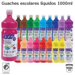 Guaches líquidos coloridos com 1000ml