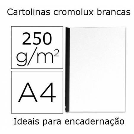 Cartolinas cromolux brancas A4