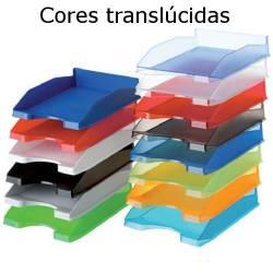 Tabuleiros de secretária plásticos translúcidos