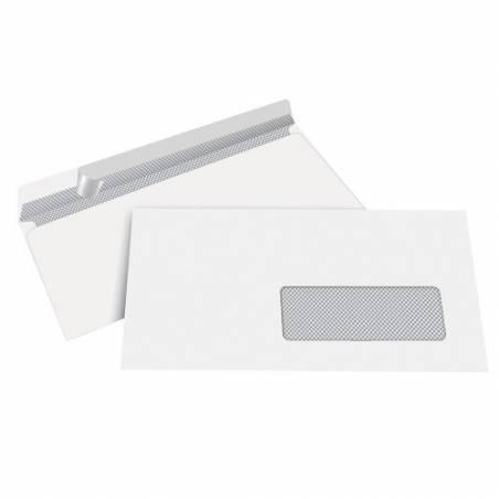 Envelopes brancos 110X220mm com janela