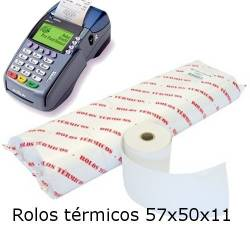 Rolos térmicos 57x50x11 (pack com 10 rolos)