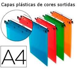 Capas de arquivo suspenso A4 plásticas