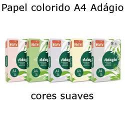 Papel Adágio A4 de cores suaves