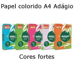 Papel A4 colorido 80 gr. - Cores intensas