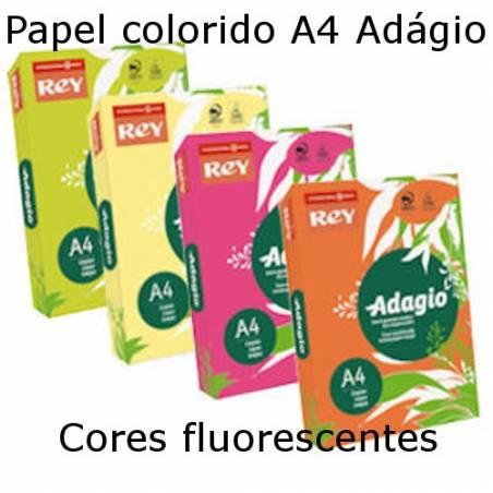 Papel A4 Adágio cores fluorescentes