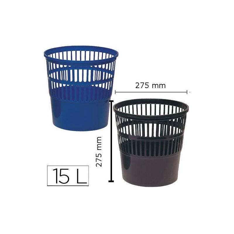 Cestos de papeis plásticos em rede 15L
