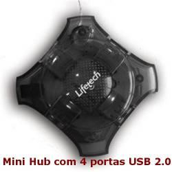 Hub com 4 portas USB Lifetech Mini SE