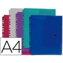 Envelopes plásticos A4 com furação para arquivar