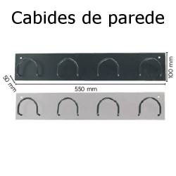 Cabides de parede com 4 suportes metálicos
