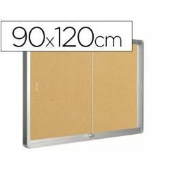 Vitrinas de parede com fundo em cortiça 80x100cm