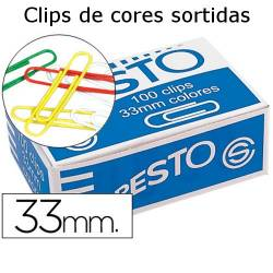 Clips coloridos 33mm