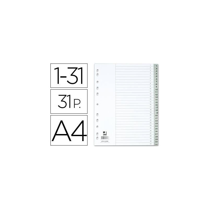 Separadores numéricos plásticos 1-31