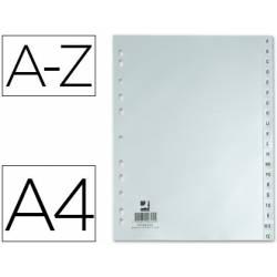 Separadores alfabéticos plásticos