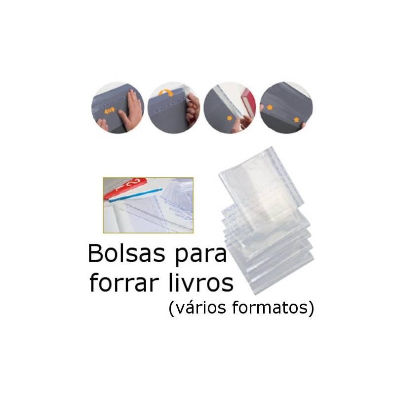 Capas plásticas ajustáveis para forrar livros