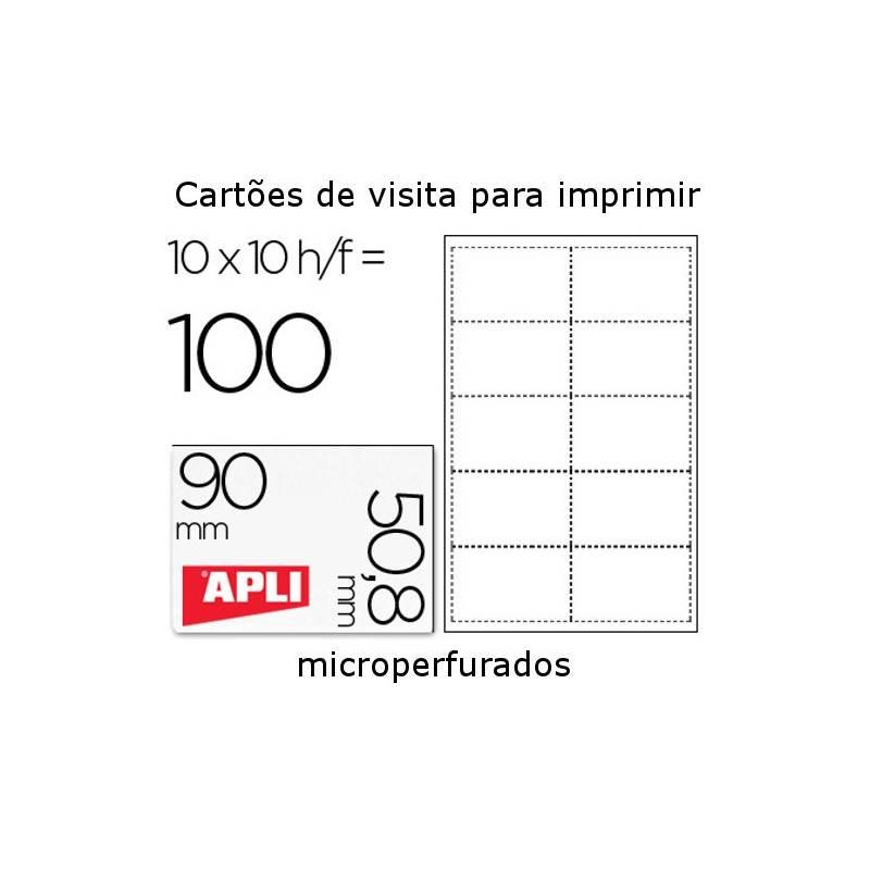 Cartões de visita microperfurados 200 gr/m2